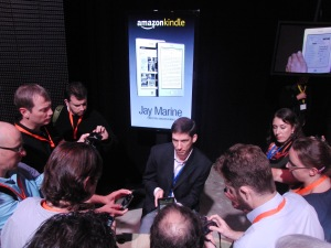 Journalists at the unveiling of the Kindle Fire weren't allowed to touch them.