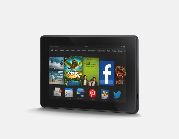 Kindle Fire HD Landscape Angle