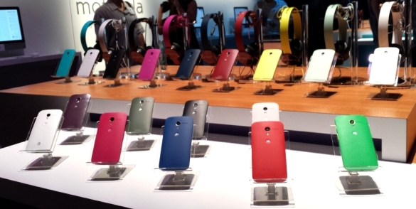 Motorola's Moto X can be ordered in a variety of color combinations.