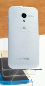 Rear of Motorola Moto X.