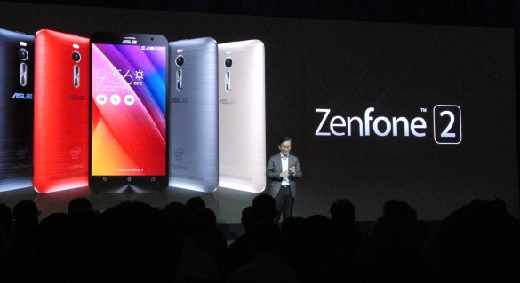 ASUS Chairman Jonney Shih introduces Zenfone 2 to New York media.