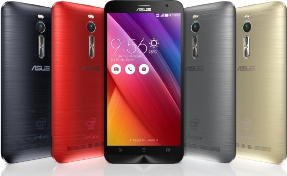 Asus Zenfone 2 colors and finishes.